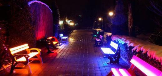 Бизнес идея: Светящиеся скамейки